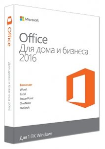 ПО Microsoft Office Home & Business 2016 Rus DVD T5D-02290
